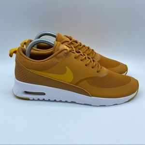 Nike Air Max Thea Mustard Sneakers Womens Size 8.5 US Desert Ochre Running Shoes